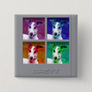 Greyhound Homage to Pinback Button