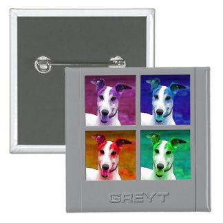 Greyhound Homage to Warhol Pins