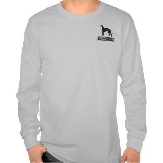 Greyhound in Black and White Tee Shirts