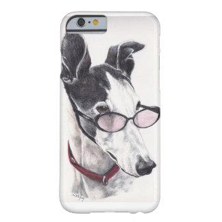 Greyhound in glasses Dog Art iphone 6 Case
