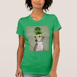 Greyhound in Green Knitted Hat T-Shirt