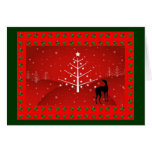 Greyhound in the Christmas Glow Cards