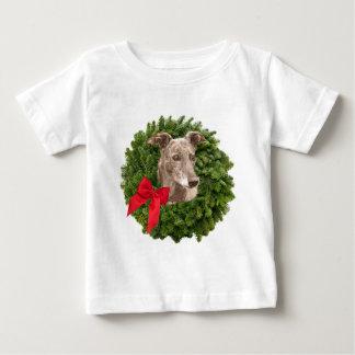Greyhound in Xmas Wreath T-shirts