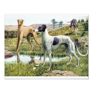 "Greyhound 4.25"" X 5.5"" Invitation Card"