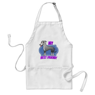 Greyhound is my best friend adult apron