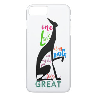 Greyhound Italian Silhouette Love My Dog Stylish iPhone 8 Plus/7 Plus Case