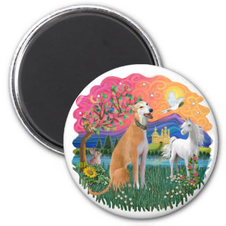 Greyhound (light red) magnet