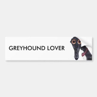 GREYHOUND LOVER BUMPER STICKER