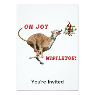 Greyhound & Mistletoe Card