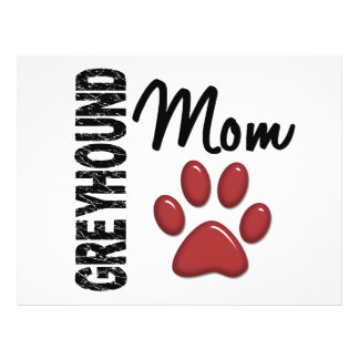 Greyhound Mom 2 Flyer Design