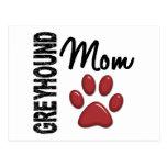 Greyhound Mom 2 Postcard