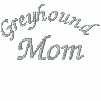 Greyhound Mom Embroidered T Shirt