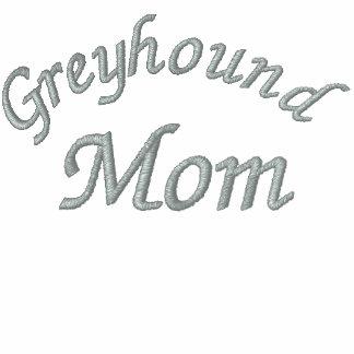 Greyhound Mom Embroidered T Shirt