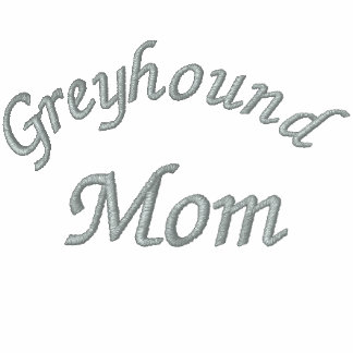 Greyhound Mom Embroidered Zip Hoodie