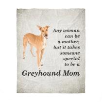 Greyhound Mom Fleece Blanket