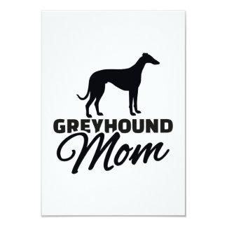 "Greyhound Mom 3.5"" X 5"" Invitation Card"