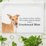 """Greyhound Mom Kitchen Towel<br><div class=""""desc"""">This kitchen towel is a great gift for any Greyhound Mom.</div>"""