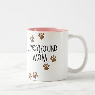Greyhound Mom Two-Tone Coffee Mug