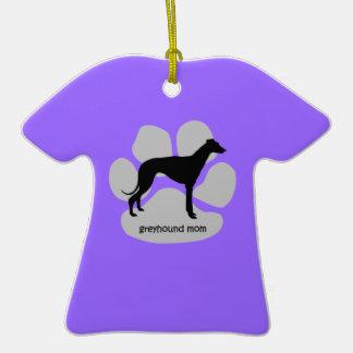 Greyhound mom Double-Sided T-Shirt ceramic christmas ornament
