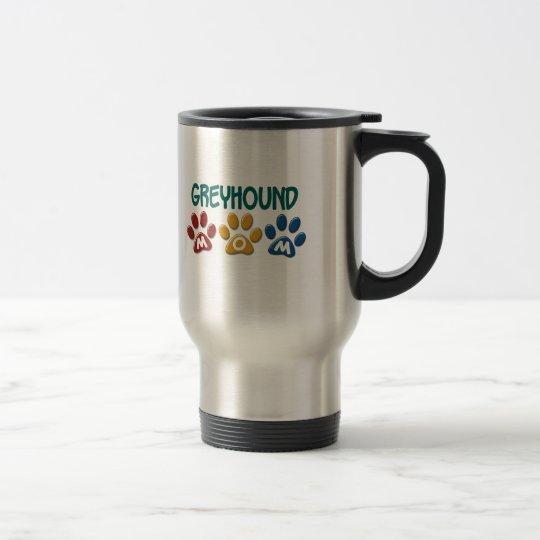 GREYHOUND Mom Paw Print 1 Travel Mug