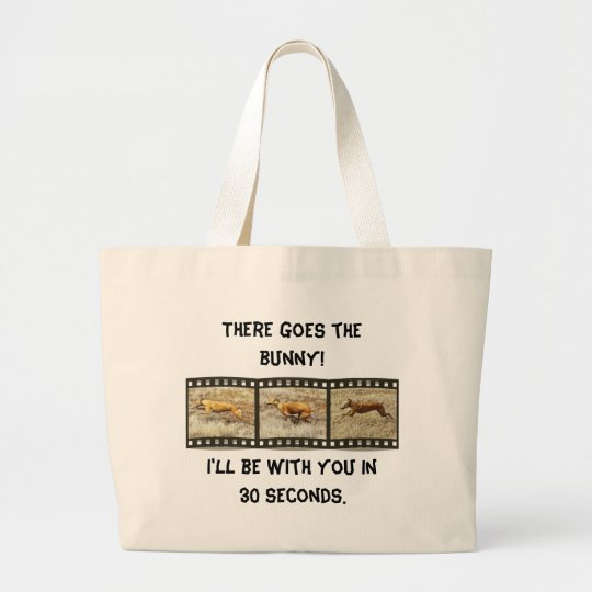 Greyhound on a mission large tote bag
