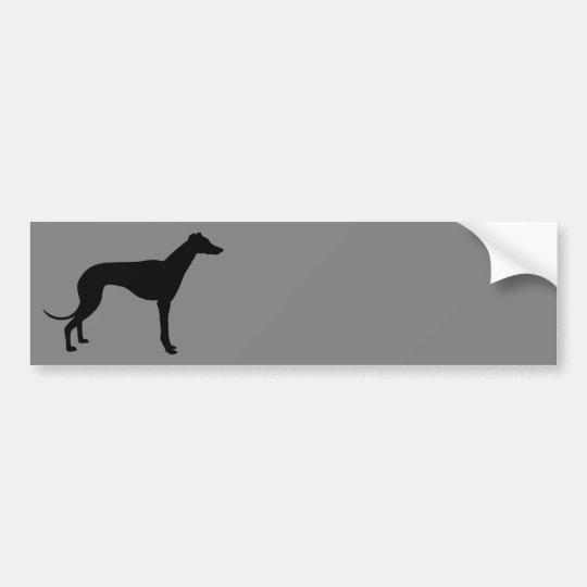 Greyhound on Gray Bumper Sticker