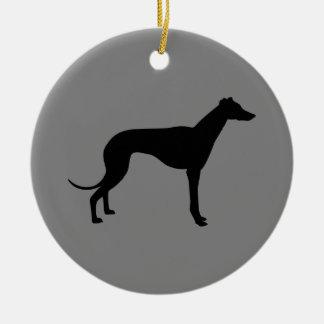 Greyhound on Gray Ornaments