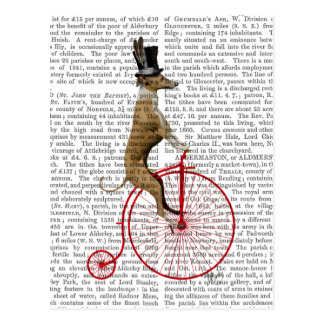Greyhound on Red Penny Farthing Bike Postcard