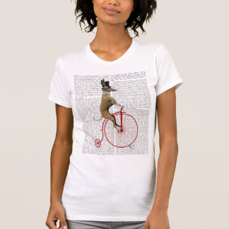 Greyhound on Red Penny Farthing Bike T-Shirt