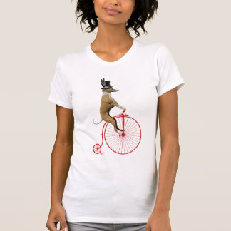 Greyhound on Red Penny Farthing T-Shirt