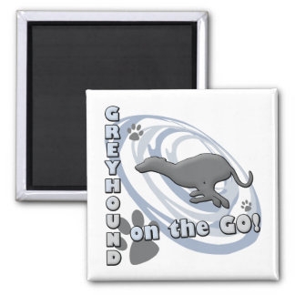 Greyhound On the Go 2 Inch Square Magnet
