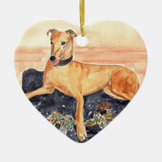 'Greyhound' Ornament