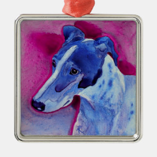 "Greyhound Ornament - ""Blue Boy"""