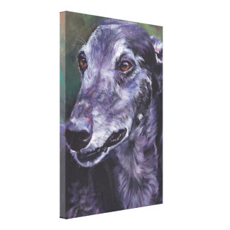 greyhound Painting on Gallery Wrapped Canvas