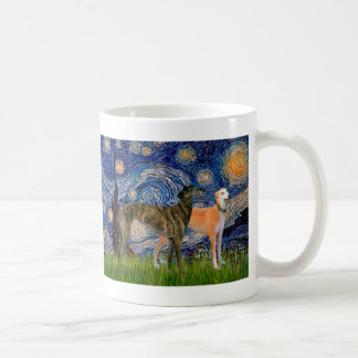 Greyhound Pair - Starry Night Coffee Mug