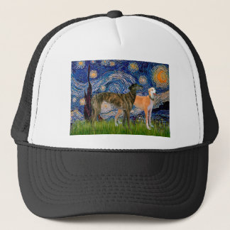 Greyhound Pair - Starry Night Trucker Hat