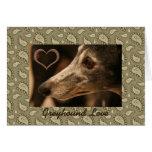 Greyhound Paisley Love Cards