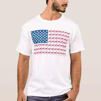 Greyhound Patriotic Flag T-Shirt