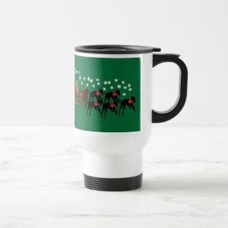Greyhound Personalized Christmas Holiday Mug