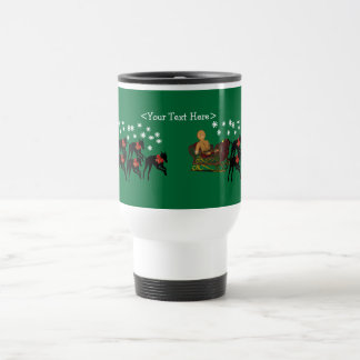 Greyhound Personalized Christmas Holiday Mug
