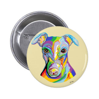 GREYHOUND PINBACK BUTTON