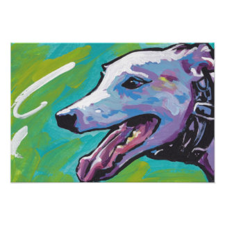 Greyhound Pop Art Poster Print