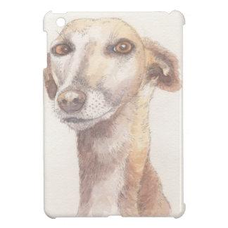 Greyhound portrait iPad mini cover