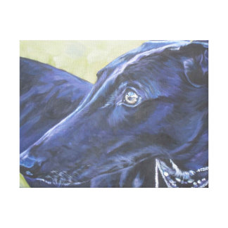 greyhound portrait on wrapped canvas