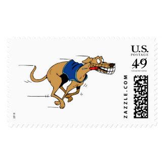 greyhound postage stamp