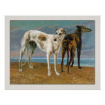 Greyhound Poster/Print:  Two Greyhounds Poster