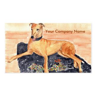 Greyhound Profile Card Business Card Template