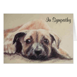 Greyhound puppy card personalize it yourself