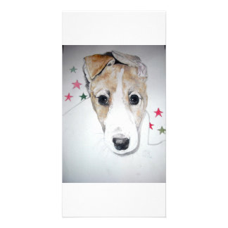 Greyhound Puppy Photo Card