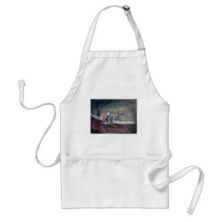 Greyhound, racing art for sports and dog lovers. adult apron